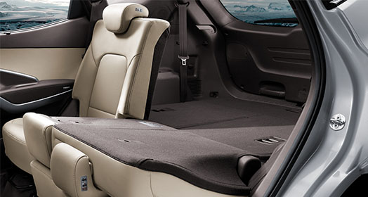 Cargo space with left rear seat folded