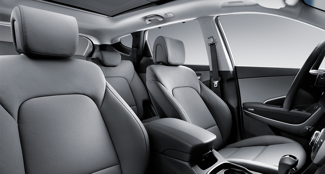 Light gray color front seats interior design