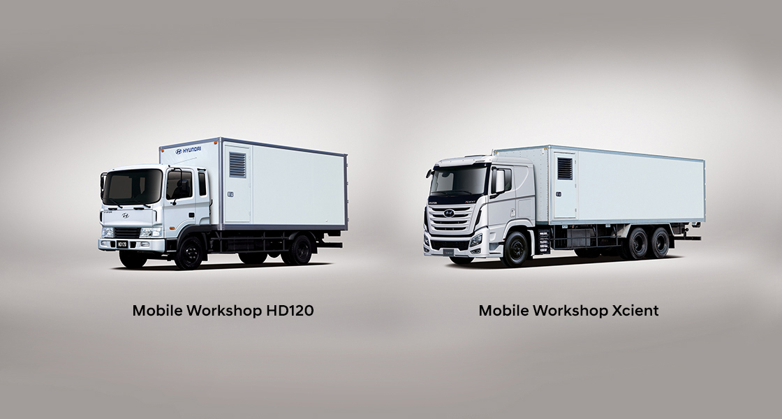 front view image of mobile workshop truck