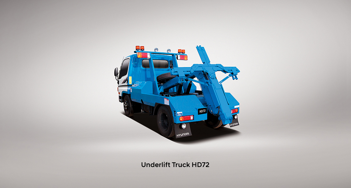 rear view image of underlift truck