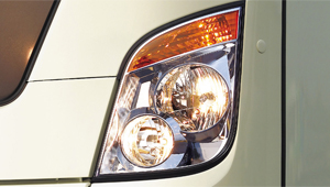image of universe bus front head lamp