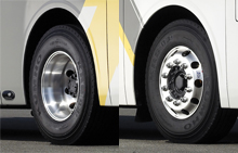 image of universe bus aluminum wheel cover