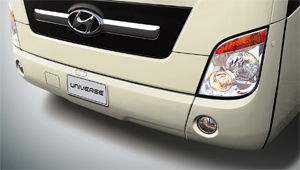 image of universe bus front bumper and fog lamp