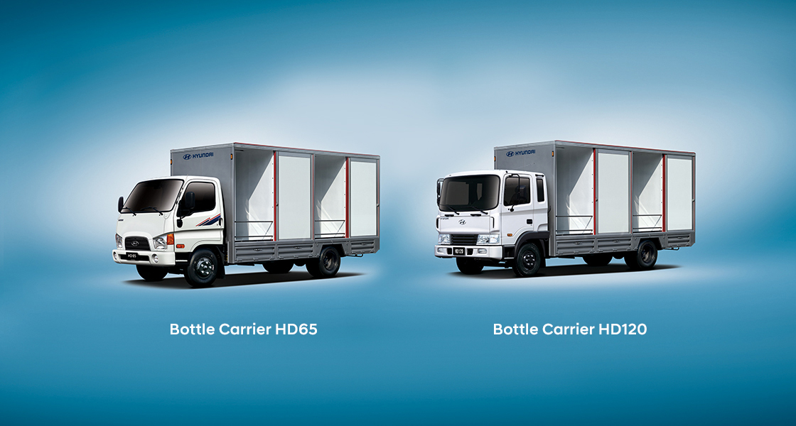front view of HD120 bottle carrier truck