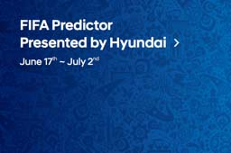 FIFA predictor presented by hyundai