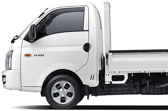 Beyaz H-100 '^ün önden görünümü