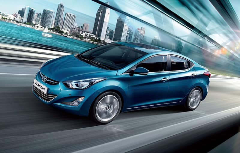 corp management performance side front view blue elantra cityview