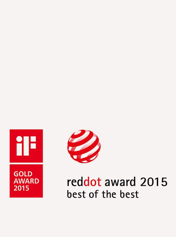 logo image of iF Design Award 2015 and Red Dot Design Award 2015