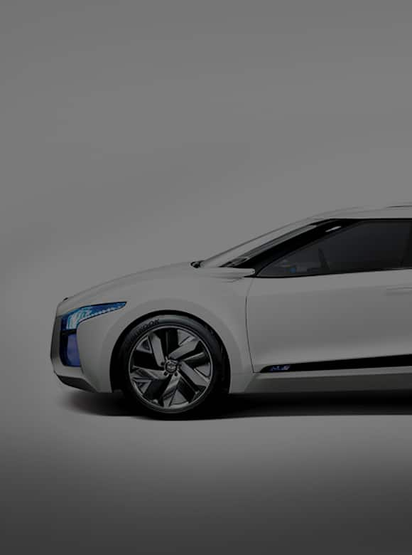 Side view of Blue Square concept car