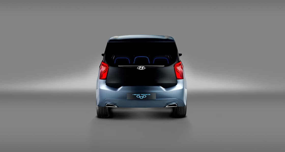Rear view of blue Hexa Space