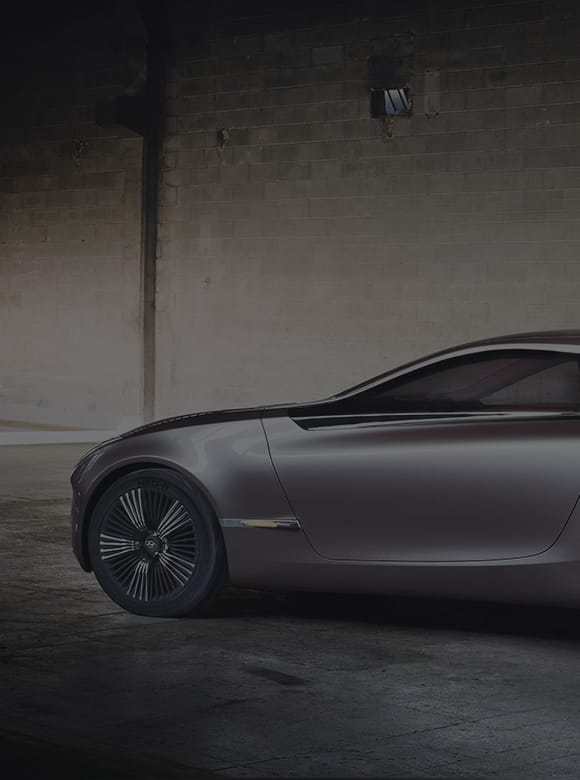 Side view of I-oniq concept car