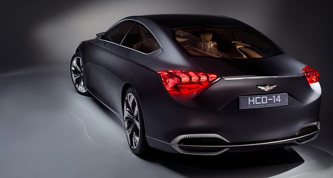 Rear view of 2013 HCD-14 Genesis