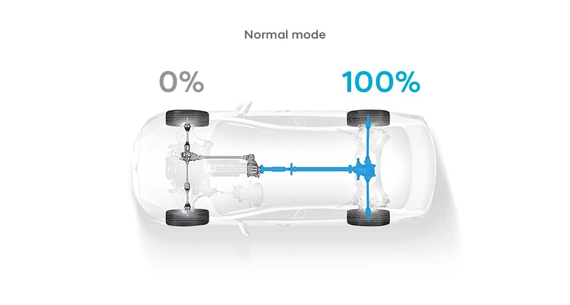 A sky view of a transparent illustration of a car indicating100%