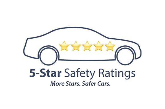safety award 5-star safety ratings logo veiw