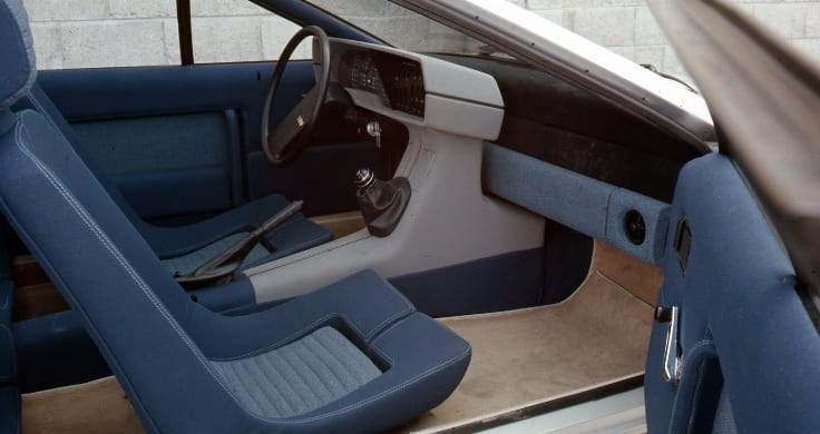 Interior shot of the Pony Coupe