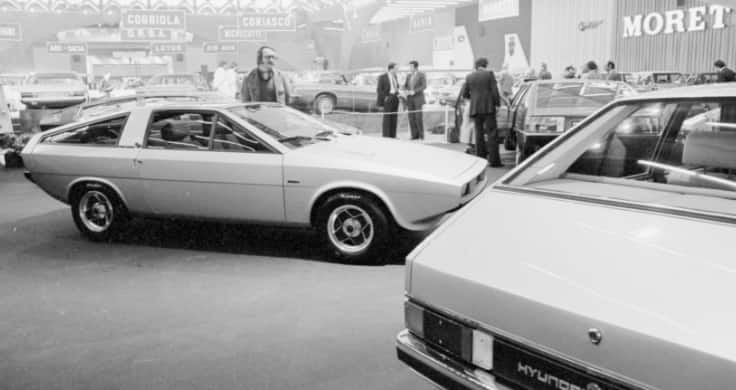 The Pony Coupe Concept at the 1974 Turin Motor Show