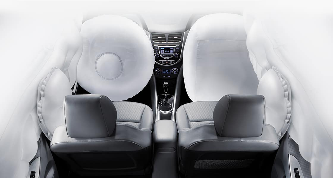 Airbags simulated around the front seats