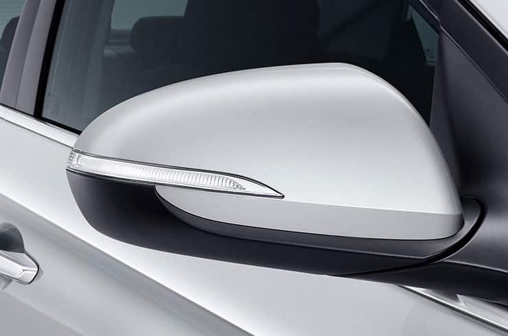 Side mirrors with built-in LED indicator lamps