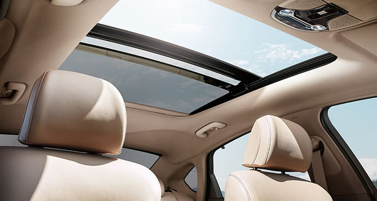Panorama sunroof on a clear day