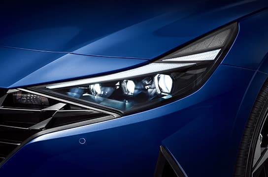 Elantra LED headlights