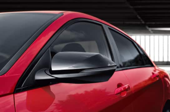 Glossy Black Side Mirror Covers & DLO Molding