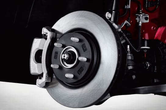 Large Front Disc Brakes