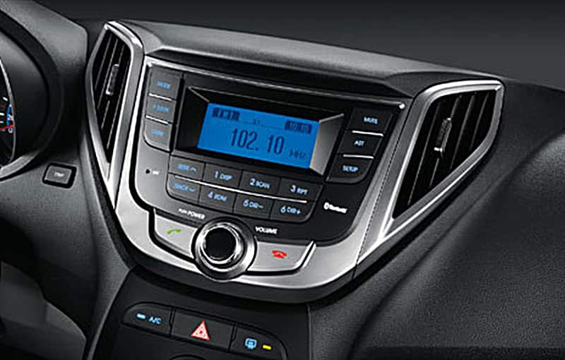 Audio system on the center fascia