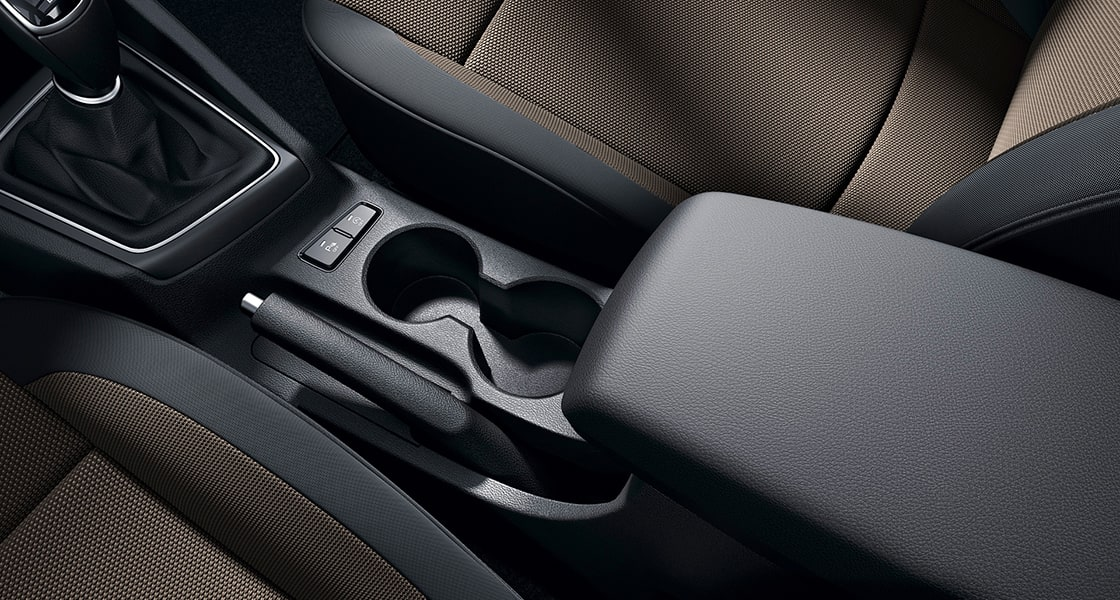 Cup holder with the center console