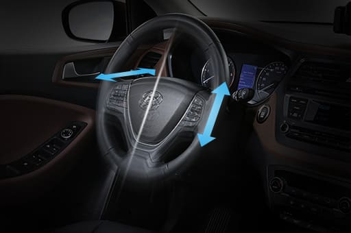 Both manual tilt and telescopic power steering wheel