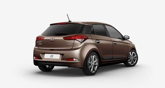 Side rear view of brown i20