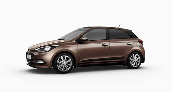 Side view of brown i20