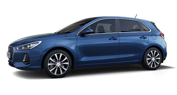Left side view of blue i30
