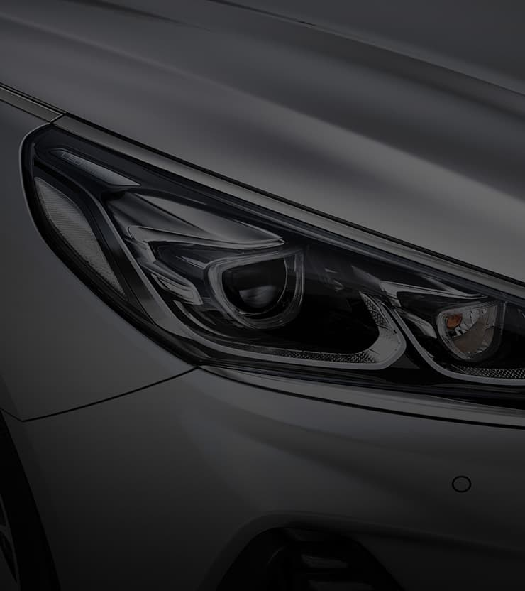 Closer view of led headlamps