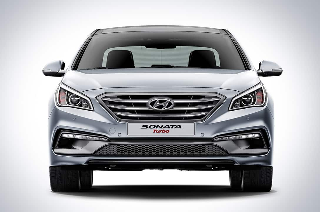 Closer view of front exterior of Sonata Turbo