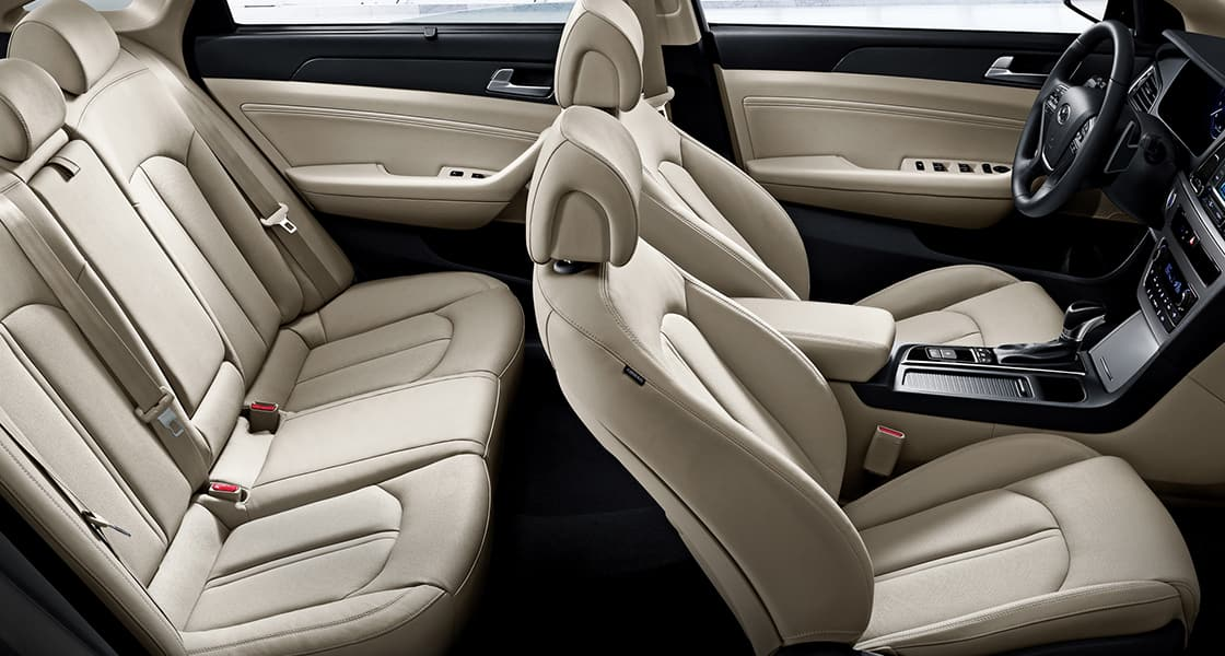 Side view of beige color interior