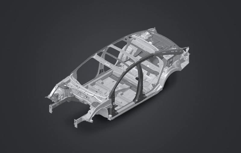 Wireframe of sonata with advanced high strength steel