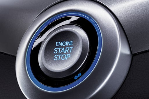 Engine start and stop button