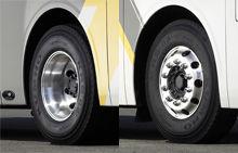 image of universe bus aluminum wheel cover