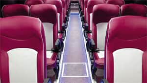 image of universe bus aisle led floor lamp