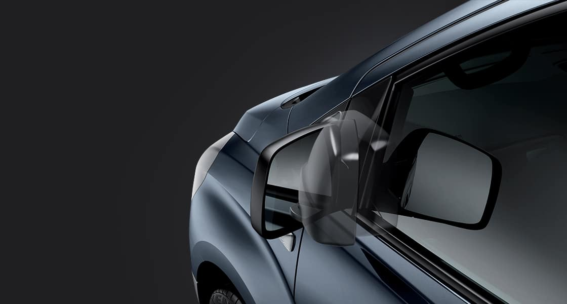 Electric folding outside mirrors' simulation