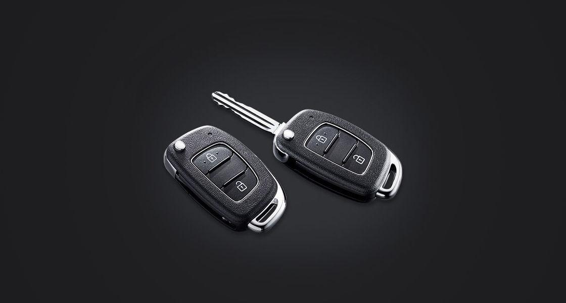 Two folding keys