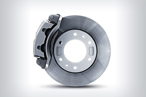 "16"" disc brakes which is one of the vehicle's components"