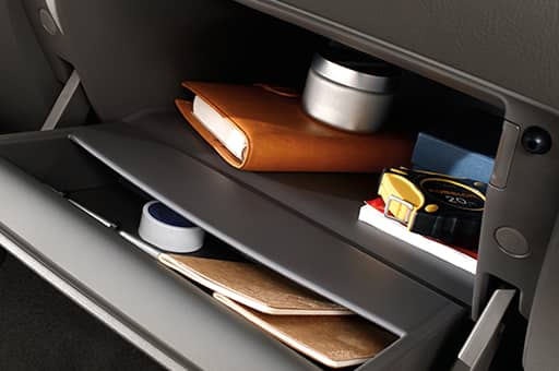 A closer view of stuff in glove box