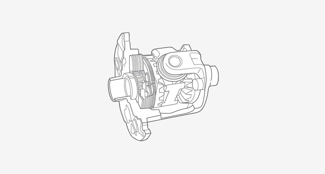 An illustration of a car's component describing locking differential