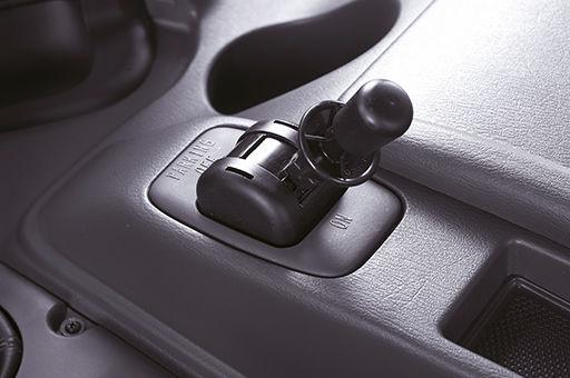 gradual parking brake's lever pulled up