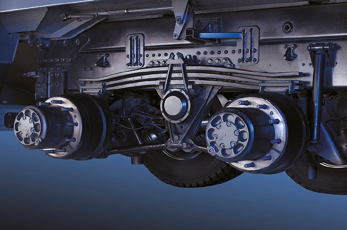 image of 2 rear axles