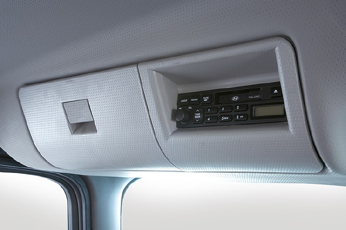 overhead console and stereo system