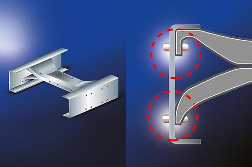 image of metalic crossmember frame