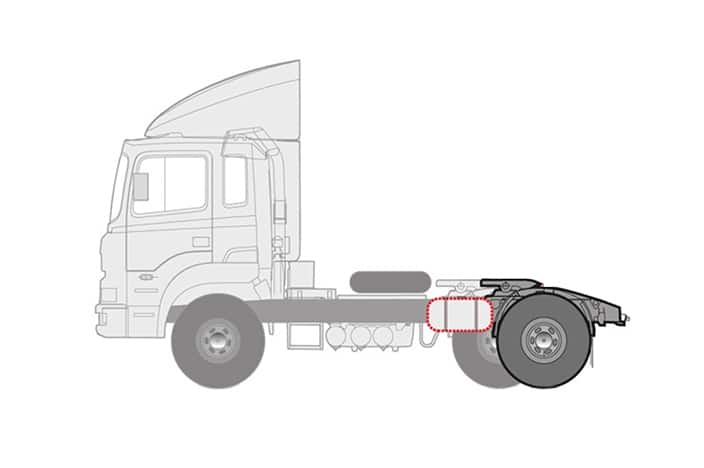 illustration of tracktor's wheel base increased by 460mm