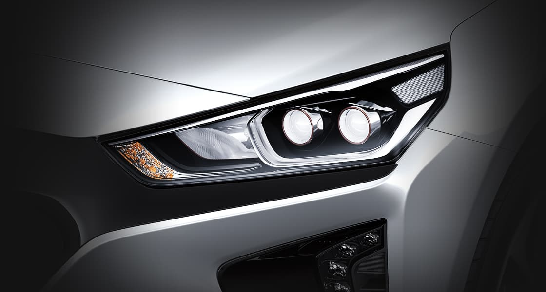 Right side LED headlamp